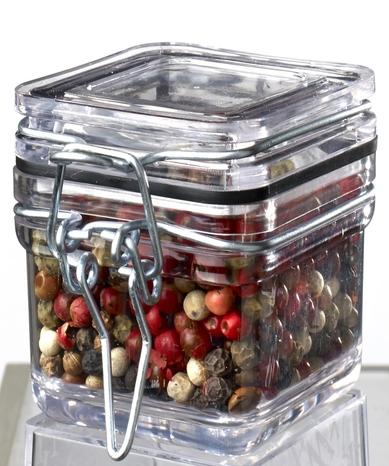 Des pots en verre pour la présentation de vos produits dans votre boutique. Pot à poivres