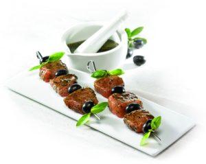 Marinade Olive basilic : Recette de brochettes de dinde olives basilic