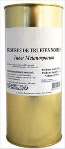 Brisures de truffes noires, Tuber Melanosporum, pour restaurateur