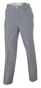 Pantalon pied de poule blanc-bleu
