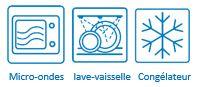 Barquette micro-ondes lave-vaisselle congélateur