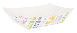 Barquette carton parole