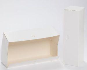 boîte pâtissière, traiteur, blanche pour buche