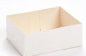 boite pâtissière blanche sans couvercle