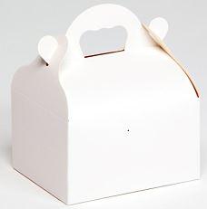 caissette en carton blanche avec poignée