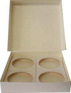 boîte carton blanche pour coquille avec calage